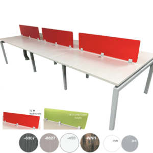 Modular Team Benching Desk Workstation with Privacy Screens