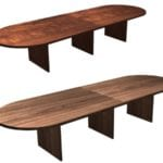 10 and 12 Feet Oval Conference Tables - Cherry and Walnut Strand