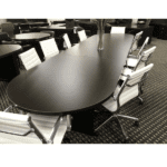 12 Feet Ultra Oval Conference Table - Espresso