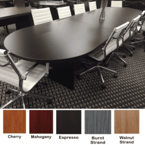 12 Feet Ultra Oval Conference Table - Espresso - 5 Finishes