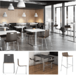 Wood Cafe Seating - Standard And Bar Height