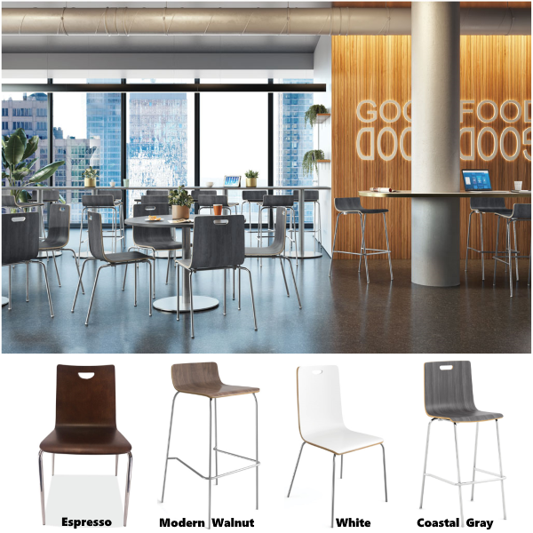 Cafe Chairs and Stools in Bleecker Collection