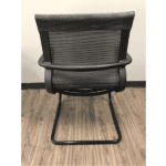 Franklin All Black Mesh Guest Chair - Cantilever Base - Rear