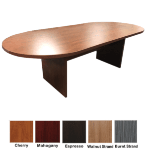 8 Feet Oval Shaped Cherry Conference Table