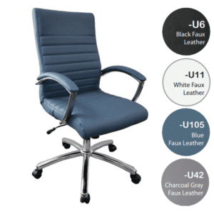 FL Faux Leather Managers Office Chairs in 4 Colors