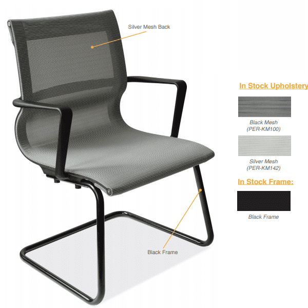 Franklin All Mesh Guest Chair - Cantilever Base