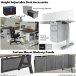Office Source Height Adjustable Desk Accessories - Storage and Modesty Panels