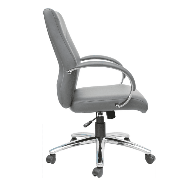 AQ-871 Soft Gray Management Chair - Side
