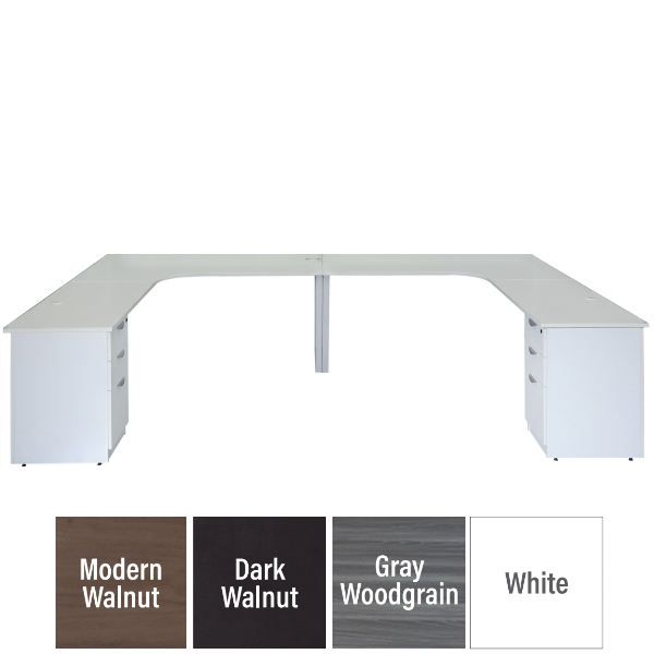 Modular Team Desk for two people