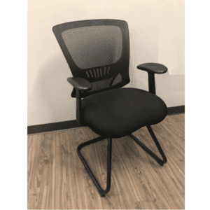 OFD-500G-BLK All Black Guest Chair
