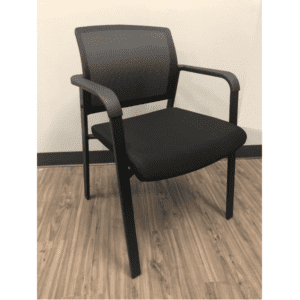 Black Mesh Guest Chair with Four Legs
