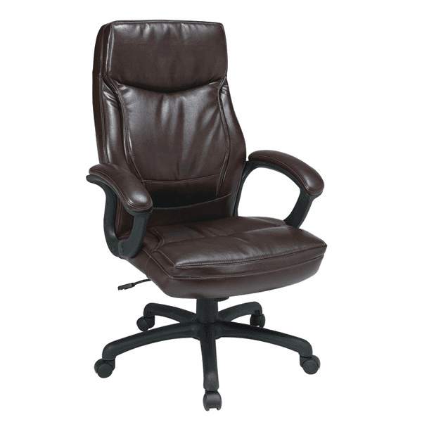 High Back Faux Espresso Leather Executive Chair