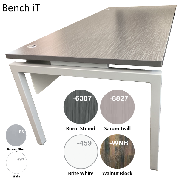Bench it Laminates and Steel Colors