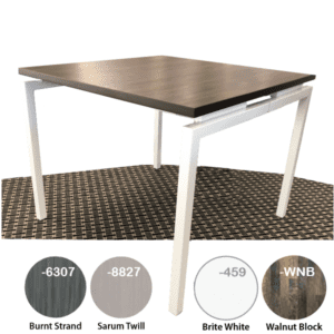 Bar Height Office Table with Steel Leg Base