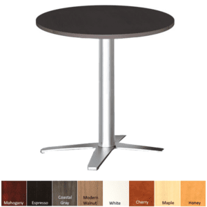 Round High Table with Prong Steel Base