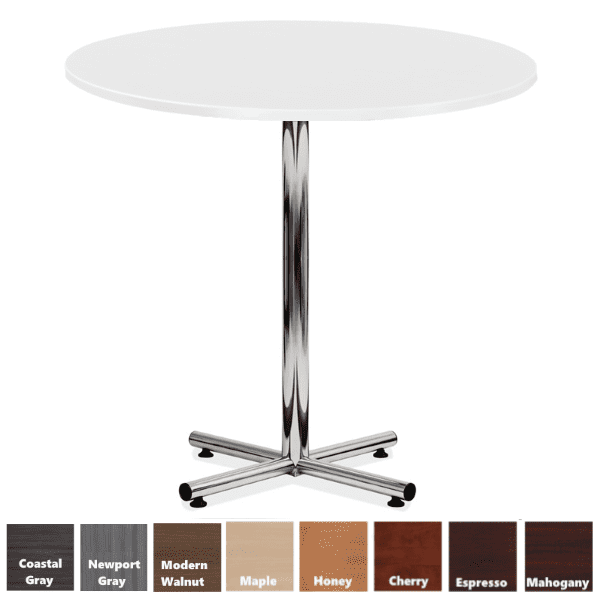 White Bar Height Table