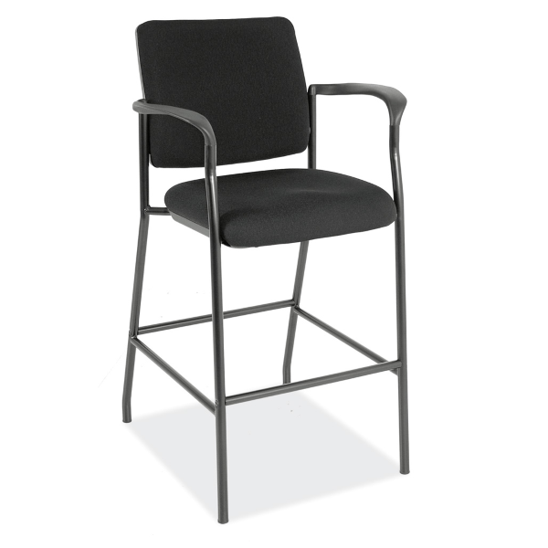 Bar Height Fabric Stool with Fixed Arms