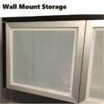 Frosted Glass Door Storage Hutch