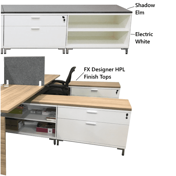 Lateral File Storage Bench