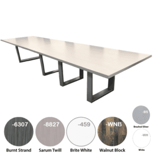 """16' 44"""" or 144"""" x 48"""" Conference Table with Steel O-Legs"""