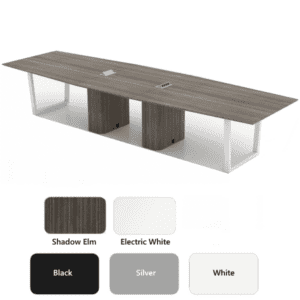 12' Conference table - Shadow Elm