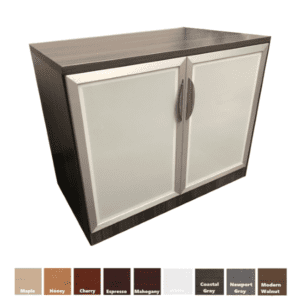 """36"""" tall frosted glass door cabinet"""