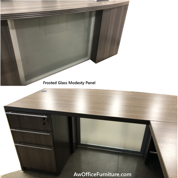 Frosted Glass Modesty Panel