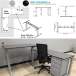 Height Adjustable Electric Base for Sit to Stand Desks