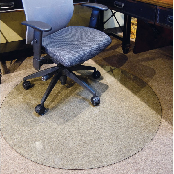 """48"""" Round Chair Mat in Tempered Glass"""