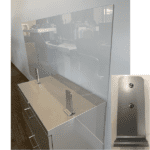 Clear Plexiglass Privacy Screen for Existing Cubicle or Desk