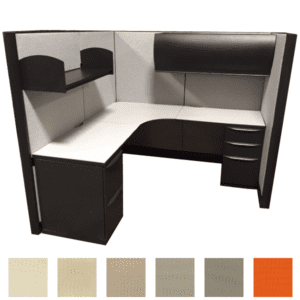 """Fabric Options - Refurbished Haworth Premise Cubicle - 6' x 6' - 64"""" Tall - Choose Fabric, Surface and Paint"""