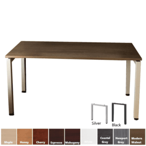 Office Source Performance Office Table with Steel U Legs