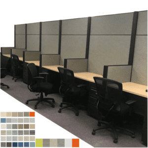 """Refurbished Acoustical Powered Work Wall 80"""" Tall"""