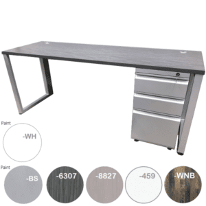 OFD Connect it Steel Pedestal Desk in 4 Finishes