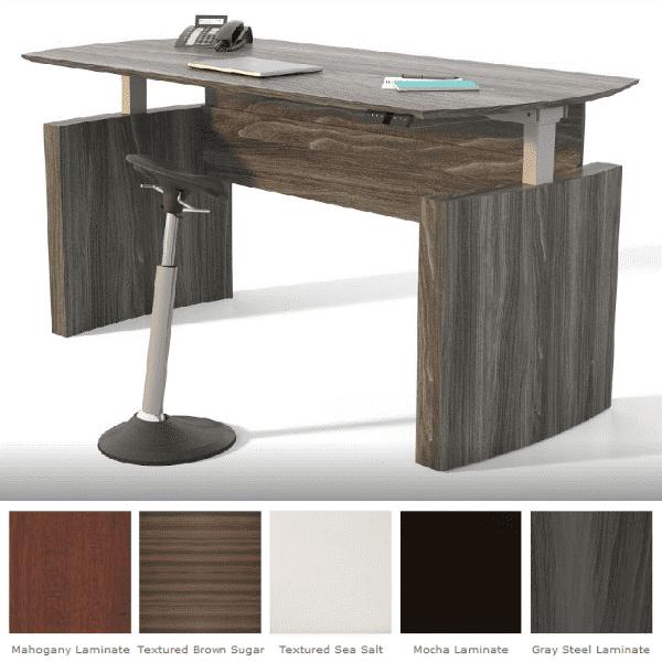 72″ Medina™ Height Adjustable Curved Desk
