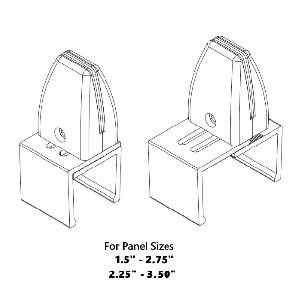 2D Drawing of Cubicle Mounts