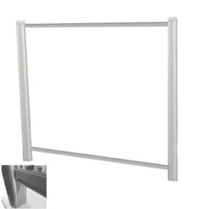 """48"""" x 36"""" Clear Transactional Screen for Desks with 3"""" Underneath Clearance"""