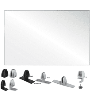 """30""""H Clear Acrylic Shield for Desk Privacy"""