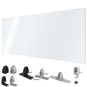 Large Desk Shield with Mounting Hardware