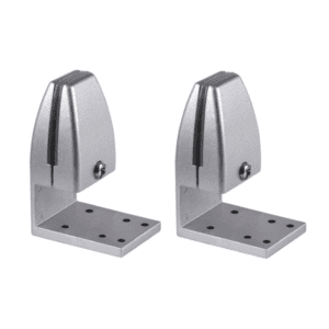 Silver Single Under Mount Desk Brackets for Privacy Screens and Shields
