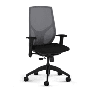 At Once 146 Mesh Task Chair with Fabric Seat