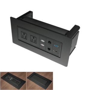 PLTBPOWER Conference Table Power Module - Office Source - Black
