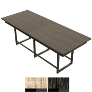 10' Rectangular Standing Table with Power Cutouts for Plates