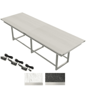 Mirella 12' Standing Conference Table in White Ash