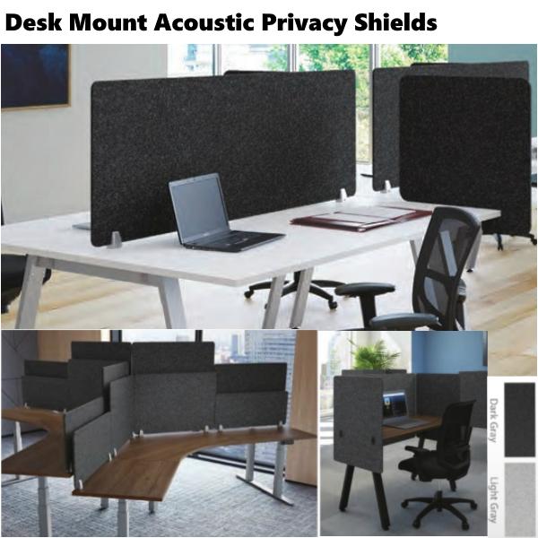 Acoustic PET Desk Shield | 24″H | 66″W