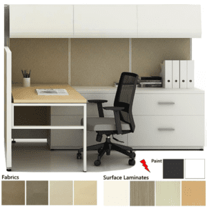 L-Shaped Cubicle with Finishes