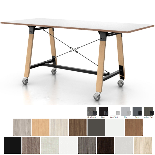 Enwork Mobile Conference Table with Industrial Look