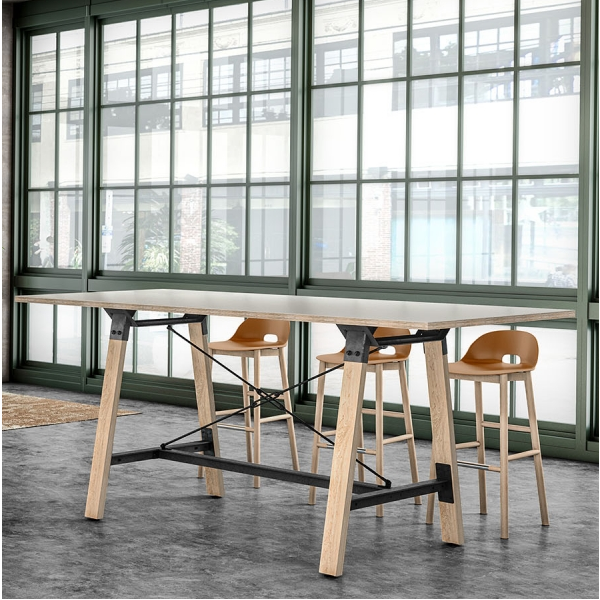 Modern Industrial Standing Height Conference Table