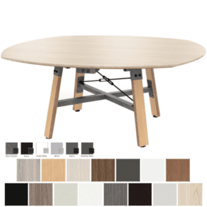 Enwork Squircle Table - Square and Circle Round Table