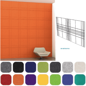 Plaid Pattern Acoustical Wall Squares